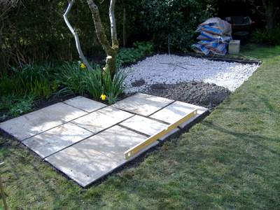 Laying Patio Flagstones