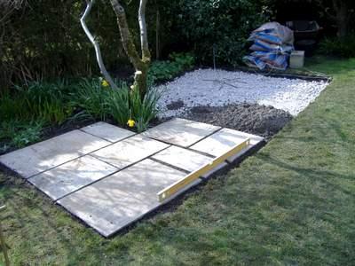 Laying Patio Flagstones